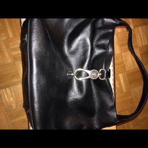 Dooney & Burke black pebble leather bag & wallet